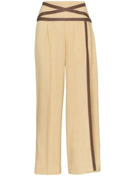 Applesauce Criss Cross Trim Trousers by Rosie Assoulin