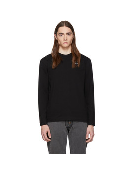 Black Heart Patch Long Sleeve T Shirt by Comme Des GarÇons Play