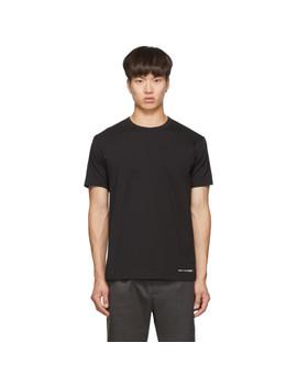 Black Logo Hem T Shirt by Comme Des GarÇons Shirt