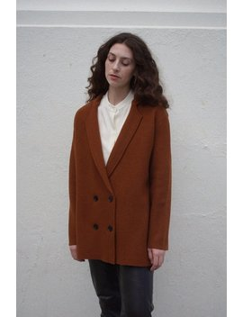 Rita Row Wool Blazer Jacket   Rust by Garmentory
