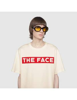 "Oversize T Shirt With ""The Face"" by Gucci"