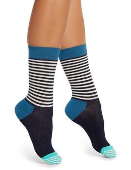 Stripe & Colorblock Crew Socks by Happy Socks