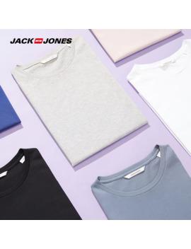 Jack Jones Men's Cotton T Shirt Solid Color Men's Top Fashion T Shirt 2019 Brand New Menswear 2181 T4517 by Ali Express.Com