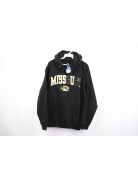 New Mens Small Custom Miss U Missouri University Spell Out Hoodie Sweater Drake by Vintage  ×