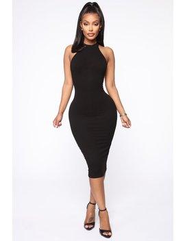 Need Space Midi Dress   Black by Fashion Nova