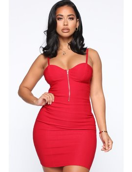Take It Easy Mini Dress   Red by Fashion Nova
