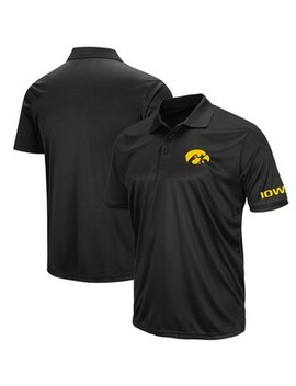 Iowa Hawkeyes Colosseum Big And Tall Stance Polo   Black by Fanatics