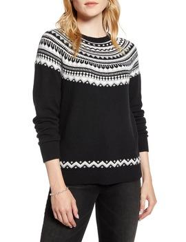 Fair Isle Shrunken Crewneck Sweater by 1901
