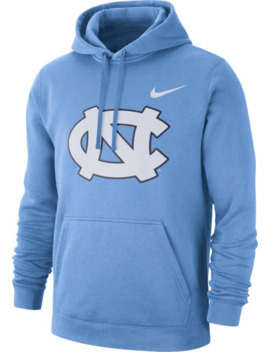 Nike Men's North Carolina Tar Heels Carolina Blue Club Fleece Pullover Hoodie by Nike