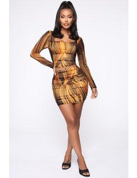 Eyes On Fire Skirt Set   Black/Combo by Fashion Nova