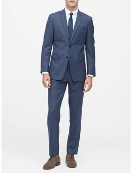 Slim Italian Sharkskin Suit Jacket by Banana Repbulic