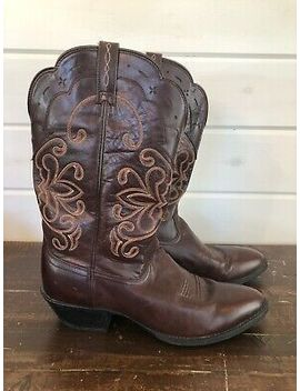 Ariat Ats Cowboy Western Brown Leather Boots Size 11 B Mens Style 15719 by Ebay Seller