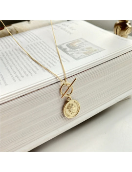 925 Sterling Silver Original Figure Lady Queen Coin Pendant Necklace Gold Fashion Chokers Necklace For Women 2018 Fine Jewelry by Ali Express.Com