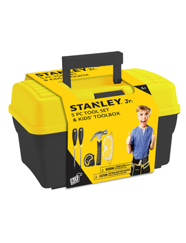 Stanley Jr   5 Piece Toolset With Tool Box by Red Toolbox Usa Inc