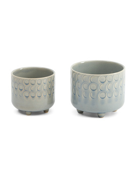 Set Of 2 Moon Phase Planters by Tj Maxx