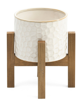 Constellation Planter On Wood Stand by Tj Maxx