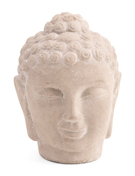 Indoor Outdoor Cement Buddha Head by Tj Maxx