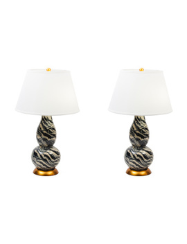 Set Of 2 Chinoiserie Lamps by Tj Maxx