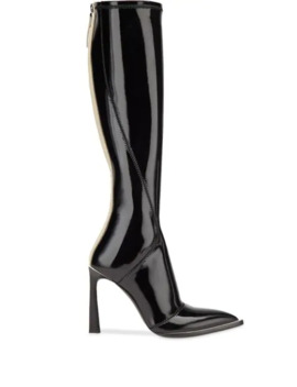 Patent Leather Pointed Toe Boots by Fendi