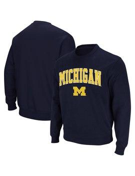 Michigan Wolverines Colosseum Arch & Logo Crew Neck Sweatshirt   Navy by Colosseum