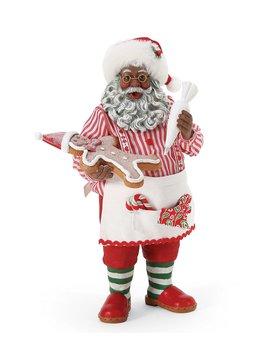 Dillard's Exclusive African American Cookie Boss Santa Figurine by Possible Dreams