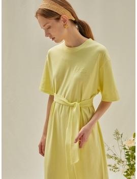 M Logo Dress Lemon by Anedit