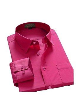 Men Dress Shirt Regular Fit Oxford Solid Color by Oxford
