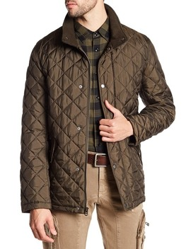 Quilted Ribbed Collar Jacket by Cole Haan