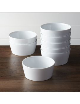 Set Of 8 Verge Bowls by Crate&Barrel