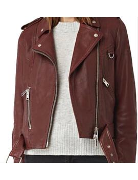Bordeaux Red Gidley Jacket by All Saints