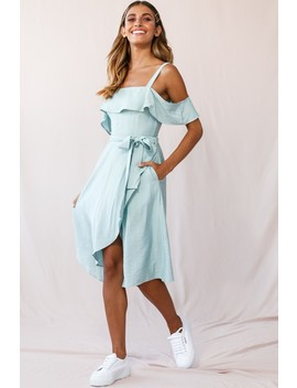 Adali Flowy Summer Midi Dress Pistachio Green by Selfie Leslie