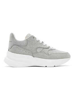 Silver & White Tiny Dancer Oversized Runner Sneakers by Alexander Mcqueen