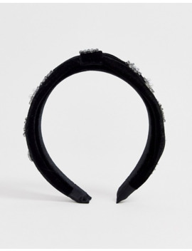 Asos Design Headband With Crystal Star And Pearl Embellishment by Asos Design