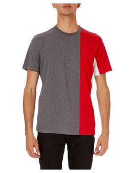 Colorblock Cuban Fit T Shirt, Gray/Red by Givenchy