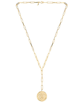 Ana Coin Lariat Necklace In Gold by Gorjana