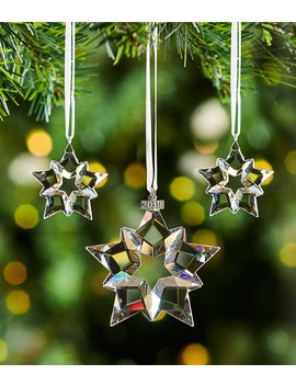 Crystal Christmas Star Set Ornament, Set Of 3 by Swarovski