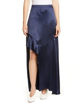 Rilani Slit Satin Maxi Skirt by Hugo