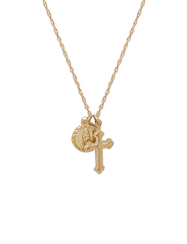 Hail Mary Necklace In Gold by Child Of Wild