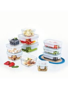 Glasslock 22 Piece Food Storage Set In Aqua by Bed Bath And Beyond