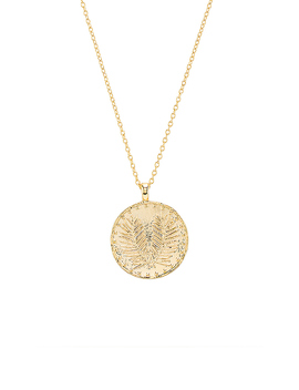 Palm Coin Necklace In Gold by Gorjana