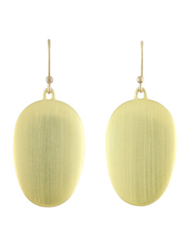 Large Brushed Green Gold Chip Earrings by Ted Muehling