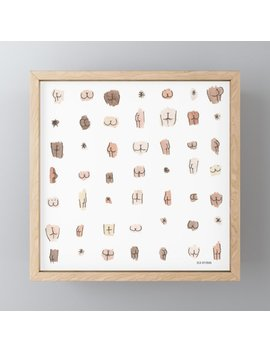 Butts Framed Mini Art Print by Society6