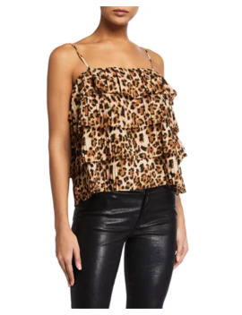 endless-rose-leopard-tiered-ruffle-sleeveless-top by endless-rose
