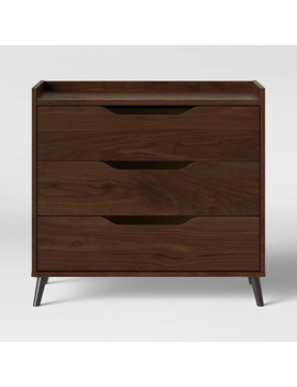 3 Drawer Modern Gallery Dresser Walnut Brown   Room Essentials™ by Shop This Collection