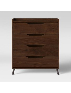 4 Drawer Modern Gallery Dresser Walnut Brown   Room Essentials™ by Shop This Collection