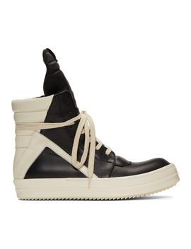 黑色-&-灰白色-geobasket-运动鞋 by rick-owens