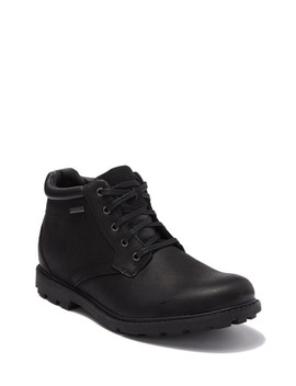 Rugged Bucks Waterproof Leather Plain Toe Boot   Wide Width Available by Rockport