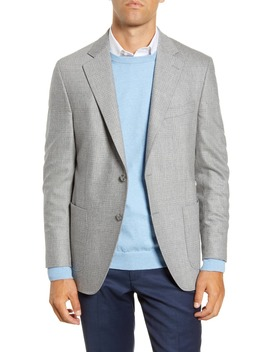 Hyperlight Classic Fit Plaid Stretch Wool Sport Coat by Peter Millar