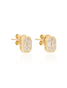 Illusion 18 K Gold Diamond Earrings by As29