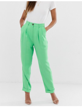 Asos Design Ultimate Tapered Pants In Apple Green by Asos Design